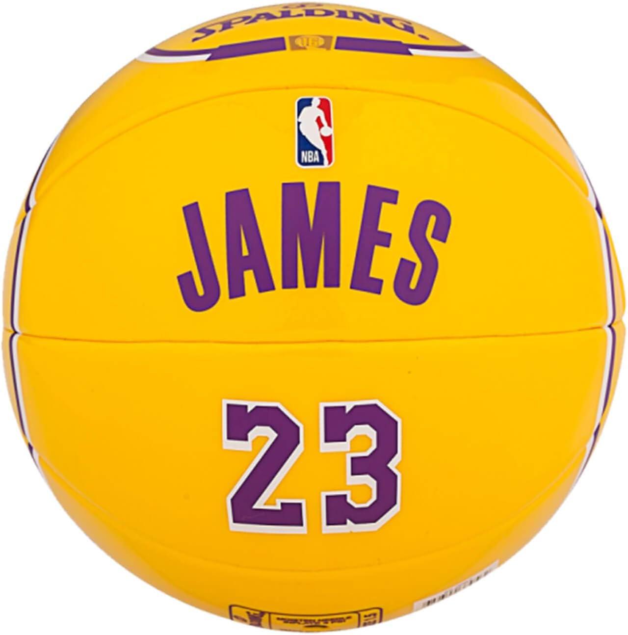 Purple//Yellow Spalding NBA Player Lebron James SZ.1.5 65-006Z Juventud Unisex Basketballs 1.5