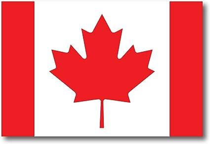 "Flag of Canada Sticker Car Canadian Decal Vinyl Emblem 2/"" x 2.5"""