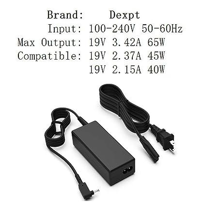 Amazon.com: [UL Listed] dexpt 19 V 3.42 a 65 W cargador para ...