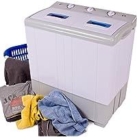 TecTake Mini machine a laver & essorer – jusqu'à 4 kg Camping, studio et petites pièces