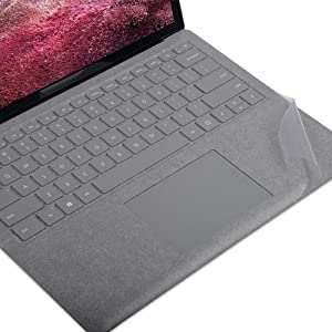 xisiciao Transparent Keyboard Palm Rest Protector for Microsoft Surface Laptop/Laptop 2/3 Pads/Wrist Rests,Protect Alcantara from Dirty/Stain 13.5 Inch Cover(US Layout)