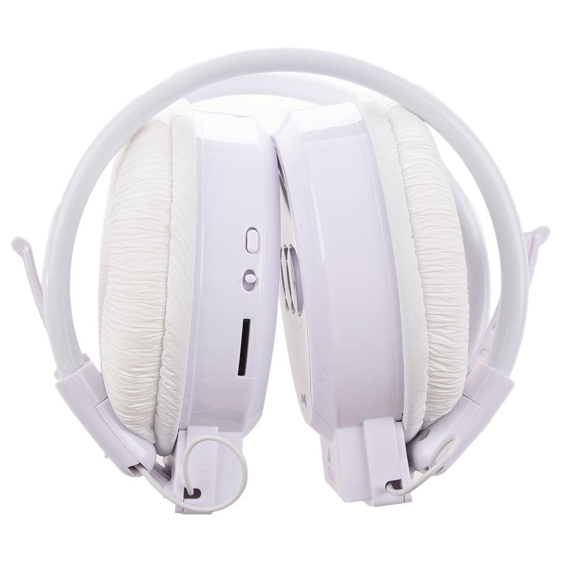 SODIAL Reproductor de MP3 radio FM Auriculares deportivos blancos ...