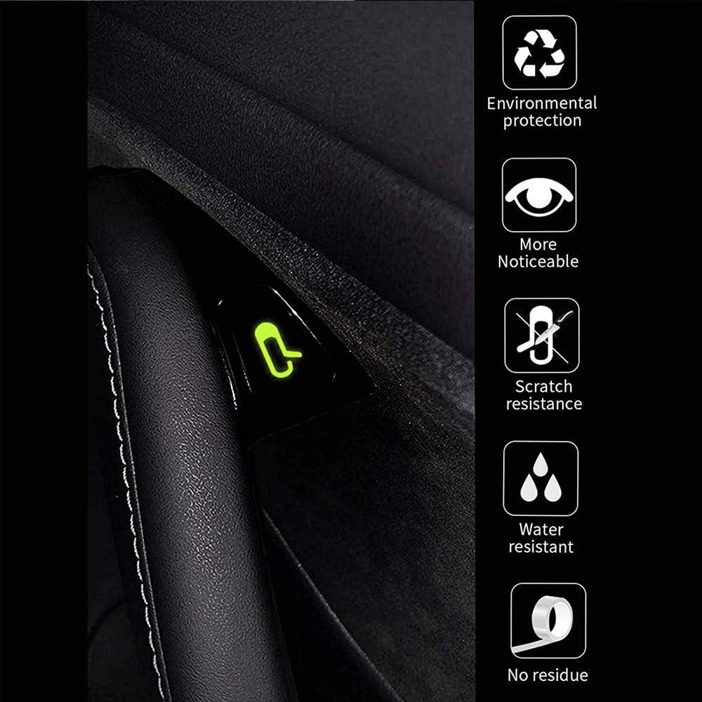 REFURBISHHOUSE 8 Pezzi//Set per Kit di Adesivi per Pulsante Luminoso Adesivo per Auto Aperta Tesla Model 3