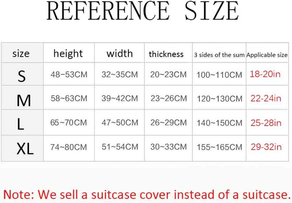 HBWZ Spandex Travel Luggage Cover Trolley Case Protective Cover Suitable for 18-32in Suitcase Dust and Wear Protection,A,M