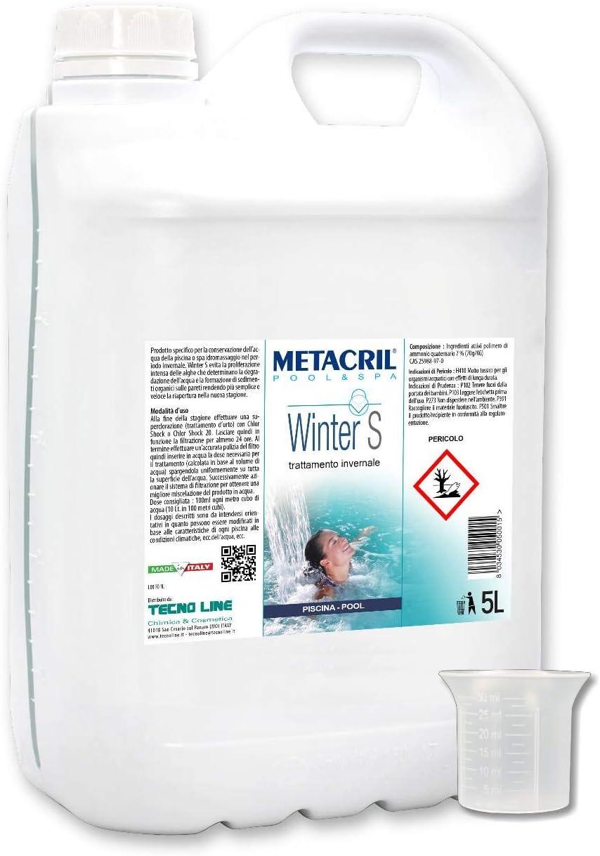 Metacril - Invernadero de acción antialgas de Alta concentración para Piscina - Winter S 5 litros + dosificador. Envío inmediato