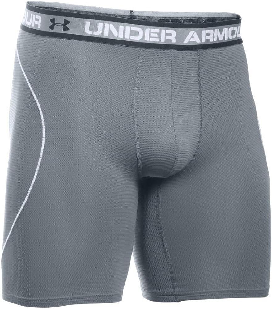 "Under Armour Men's Iso-Chill Mesh 9"" Boxerjock, Graphite/White, Small: Clothing"