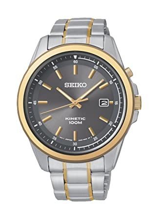 Amazoncom Seiko Ska678p1 Mens Kinetic Two Tone Stainless Steel