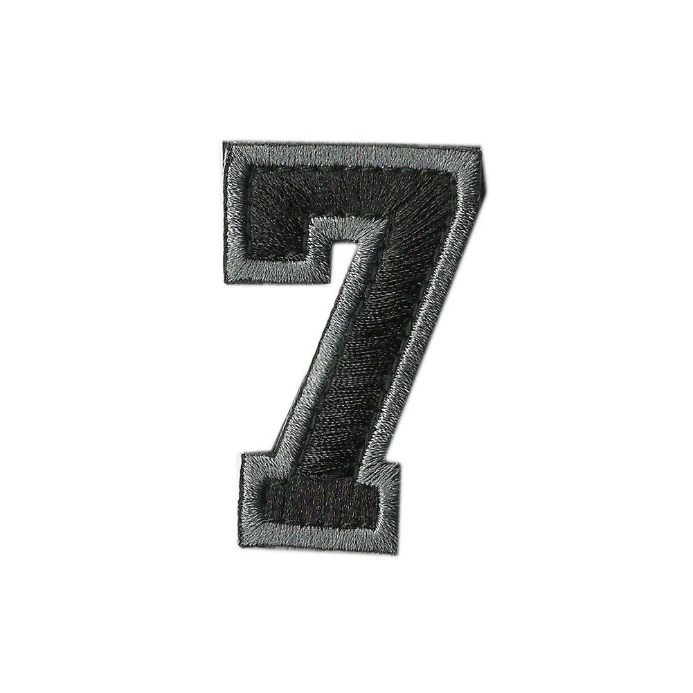 Silver//Black Tactical Numbers Patches
