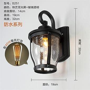 Iluminación de Pared, Hierro Retro pared lámpara de noche lámpara ...