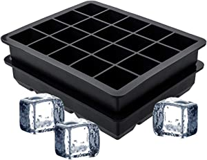 evebel Ice Cube Trays 2 Pack, Silicone Ice Cube Molds BPA Free Rubber Easy Release Ice Tray - 40 Standard Cubes