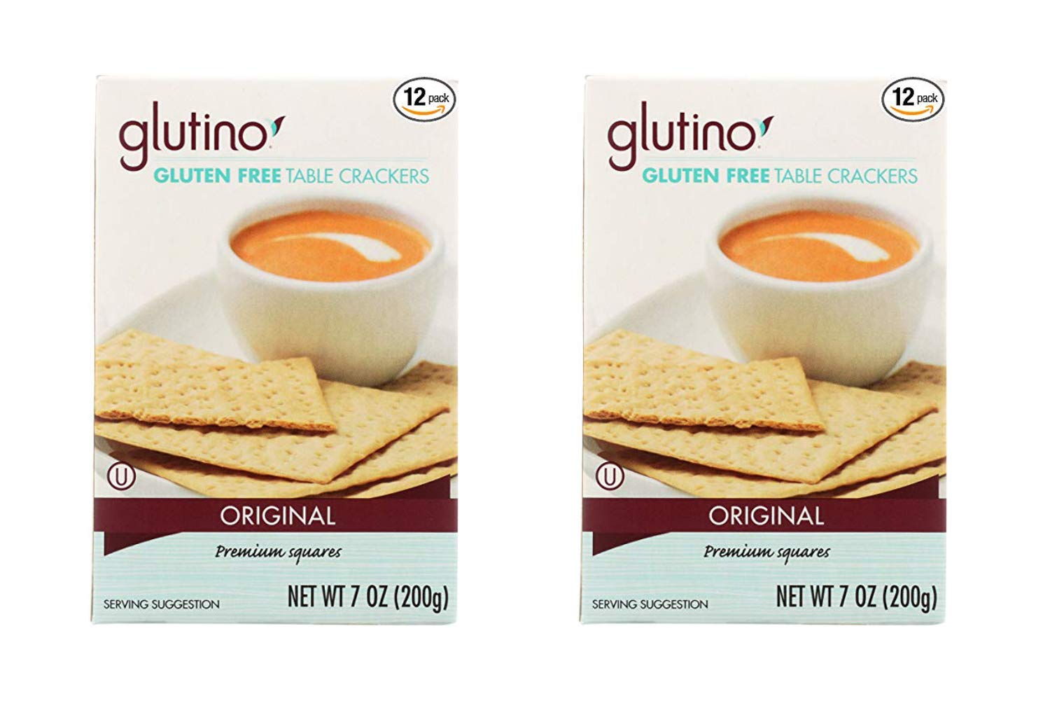 Glutino Table Crackers 7-ounce Boxes (Pack of 12) (2 Pack)