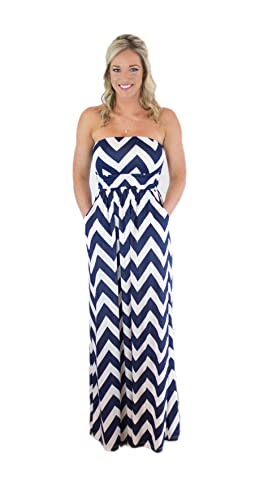 CYP Women's Sleeveless Rayon Chevron Empire Maxi Dress Zigzag Pockets 4.1 out of 5 stars    54 customer reviews   Price: $22.99 - $36.99 & Free Return on some sizes and colors