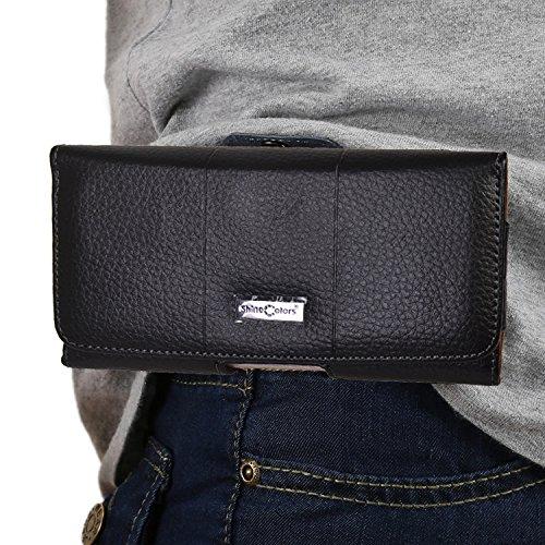 MEIRISHUN Bolso de cuero de la carpeta del bolso de la carpeta de la bolsa del cinturón de la caja del teléfono celular de la PU para Apple iPhone 6 Plus/ 6s Plus - Corio Comprobar