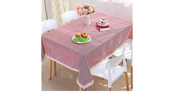 mantel de lino paño de rayas café de la manera sencilla tela de mesa mantel , 140*250cm: Amazon.es: Deportes y aire libre