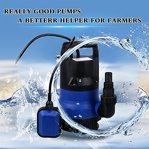 Oanon 1/2HP Submersible Sump Pump, 2115GPH 400W Dirty Clean Water Pump with Float Switch for Swimming Pool Pond Drain Garden by Oanon