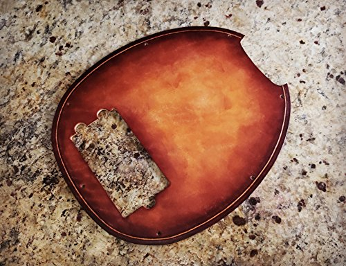 Leather Pick Guard - Ernie Ball Musicman Bass Pickguard - Hand Rubbed Sunburst Finish