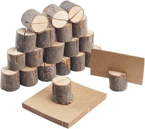 Porte-cartes de visite 10pcs Porte-num/éro de table Porte-cartes en bois Prise en charge de la carte D/écor de mariage