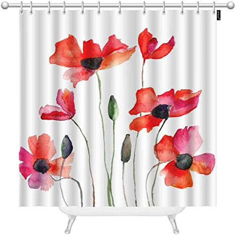 Summer Wildflowers|Floral|Flowers|Cute Shower Curtains
