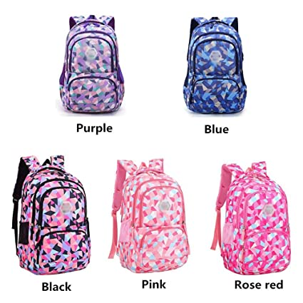 Amazon.com: XHHWZB Waterproof School Backpack for Girls Middle School Cute Bookbag Daypack for Women Rhombus (Color : Red, Size : Big): Office Products
