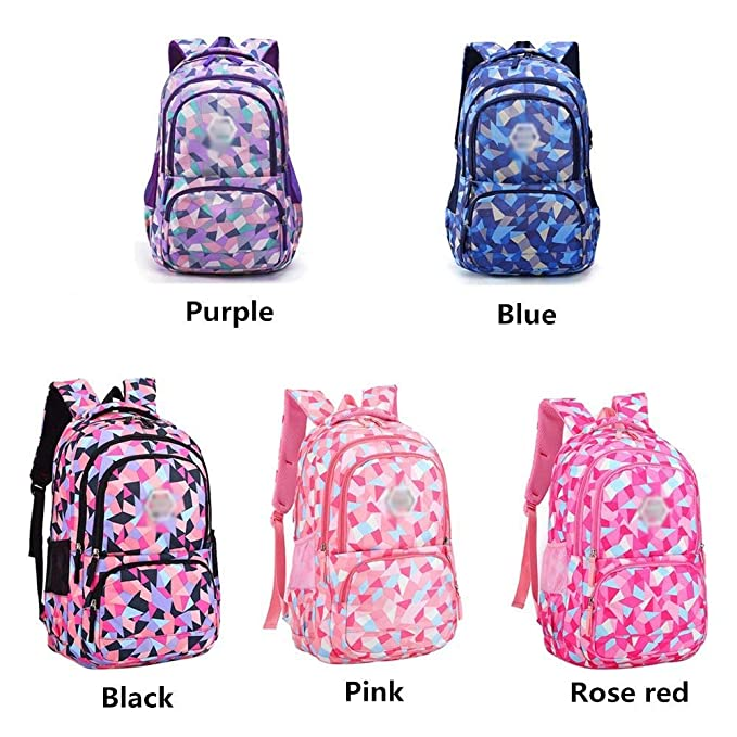 Amazon.com: Backpack - Waterproof School Backpack Girl Middle School Bag Cute Bag Backpack Female Diamond [Five Colors Optional] (Color : E, ...