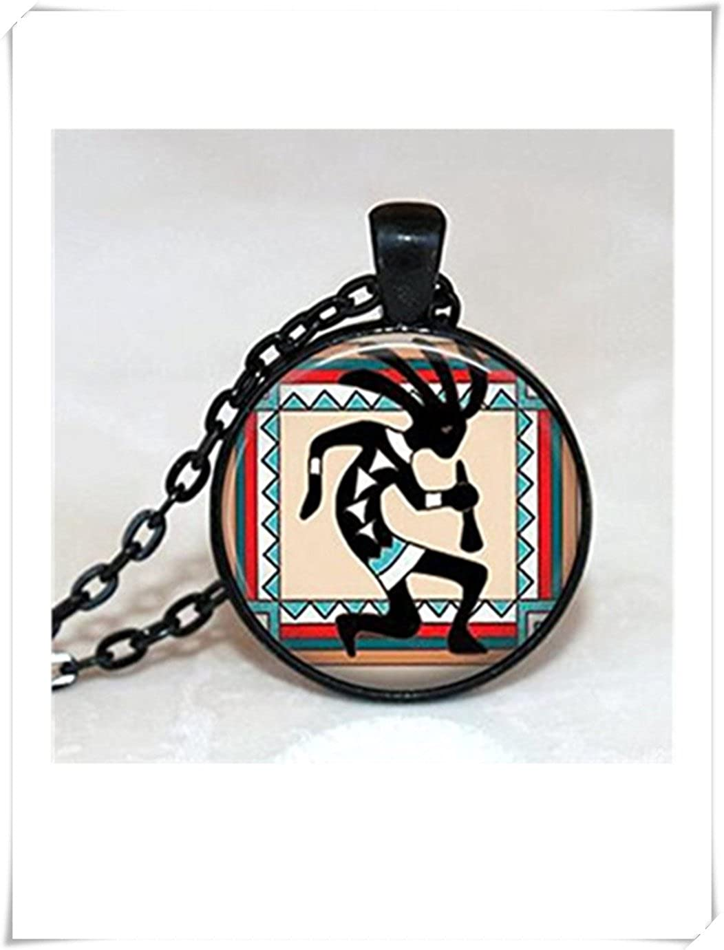 we are Forever family Glass Tile Halskette Native American Jewelry Southwestern Jewelry Kokopelli Jewelry Kokopelli Halskette Glas Fliesen Jewelry Jewelry schwarz