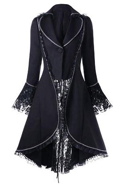 lancoszp Tuxedo Steampunk Vintage para Mujer Abrigo de Swallowtail Victoriano Encaje Recoger Cintura: Amazon.es: Ropa y accesorios