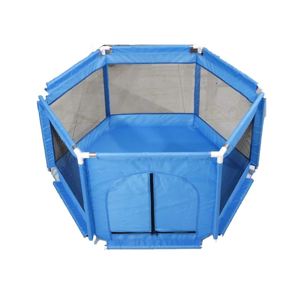 LHA ベッドガードフェンス 赤ちゃんの子供の安全屋内プレイフェンス赤ちゃんの保護フェンス (色 : 青)  青 B07LDZN9K6