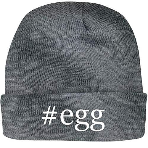 SHIRT ME UP #Egg - A Nice Hashtag Beanie Cap, Grey, OSFA