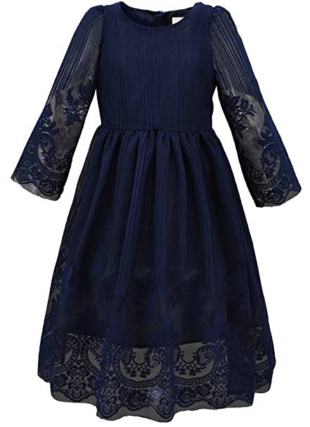 Victorian Kids Costumes & Shoes- Girls, Boys, Baby, Toddler Bonny Billy Girls Classy Embroidery Lace Maxi Flower Girl Dress $22.87 AT vintagedancer.com