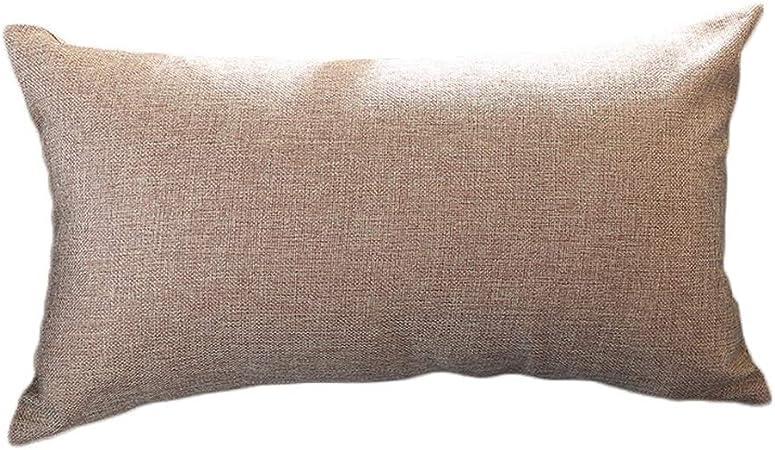 Monbedos - Funda de cojín rectangular de color sólido, 30 x 50 cm ...