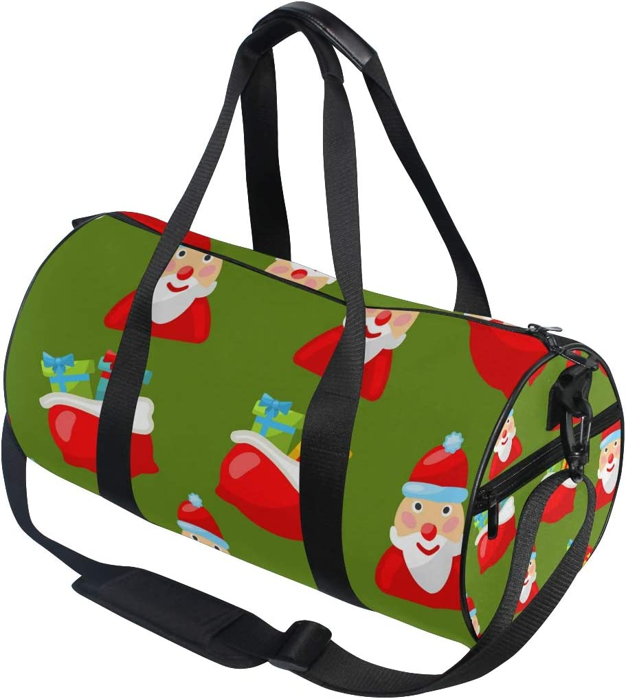 MALPLENA Santa Claus Christmas Gift Drum gym duffel bag women Travel Bag
