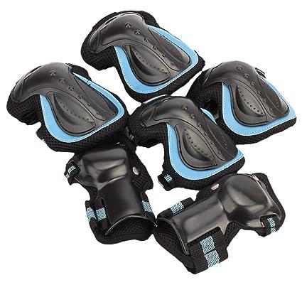 MAJOZ Protectores para Skate Patinaje Kit de 6 Piezas Set ...