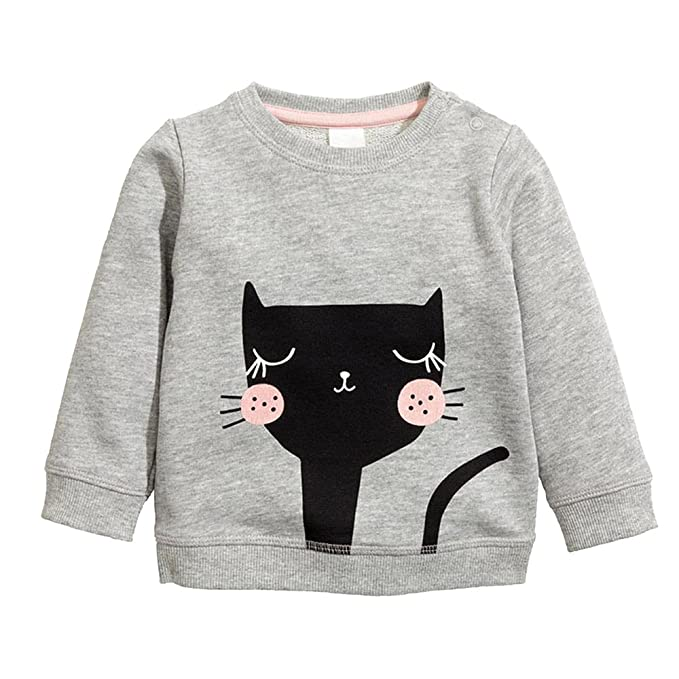 Amazon.com: Little Girls invierno algodón Knitted Pussy Cat ...