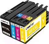 CSSTAR 4-Pack Compatible Ink Cartridges Replacement for HP 950XL 951XL High Yield Use in OfficeJet Pro 8100 8600 8610 8620 8630 8640 8660 8615 8625 251dw 276dw Printer - Black, Cyan, Magenta, Yellow