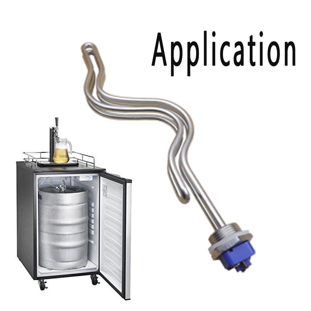 dernord 240 V inmersión elemento calefactor de agua Ripple pinzas de preparación (Tubular con 1 Inch NPSM hilo blanco 5500.00 wattsW, 240.00 voltsV: ...