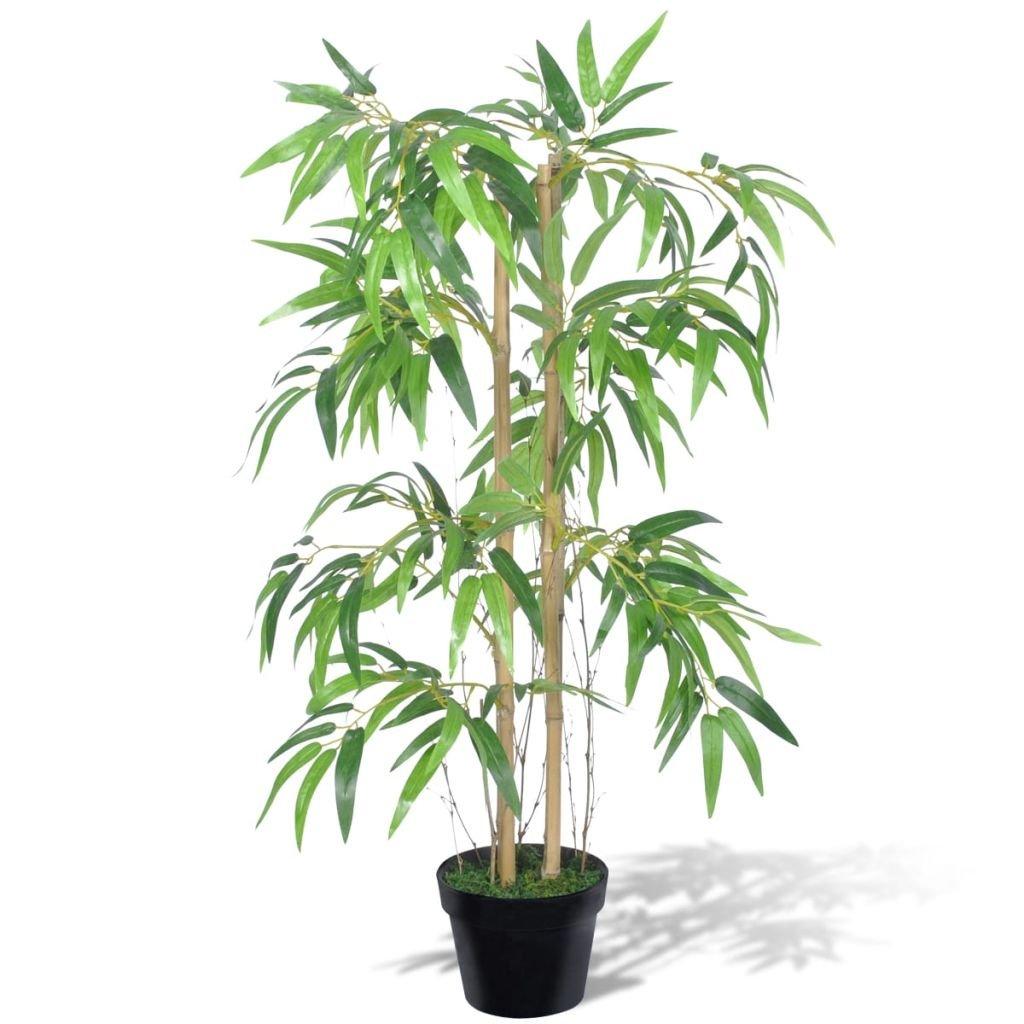 tidyard Bambou Artificiel Twiggy avec Pot pour D/écorer Porte dentr/ée//Salon//Chambre//Bureau 90 cm