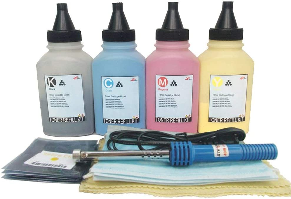 Misee Toner Refill kit for HP 410a 410x cf410x cf411x cf412x cf413x Used with Pro M452dw M452dn M452nw M477fnw M477fdn M477fdw M477 M452 4-Pack(with Tools)