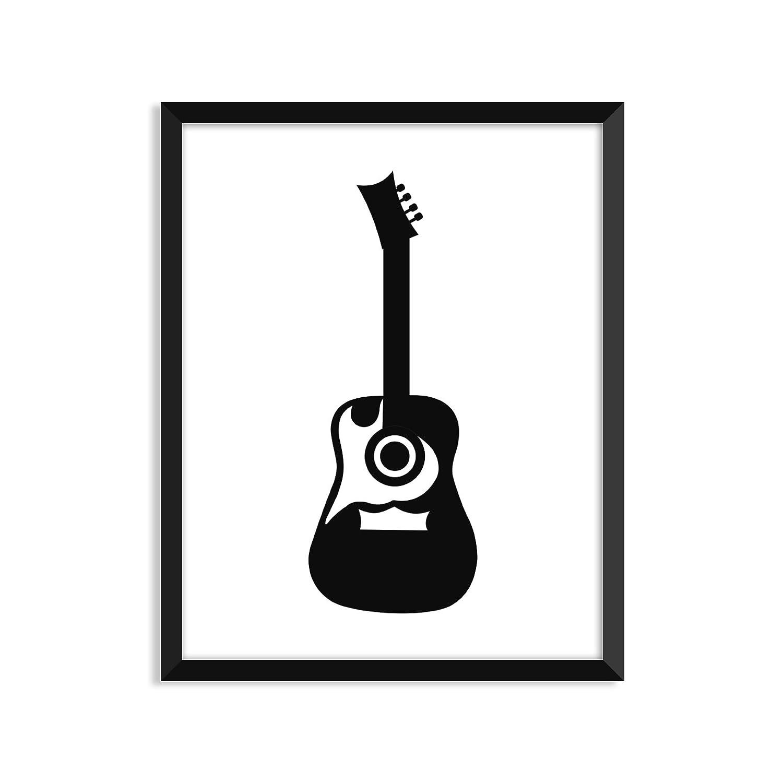 ギター – UnframedアートプリントポスターまたはGreeting Card A2 Greeting Card B07518RVPK  A2 Greeting Card