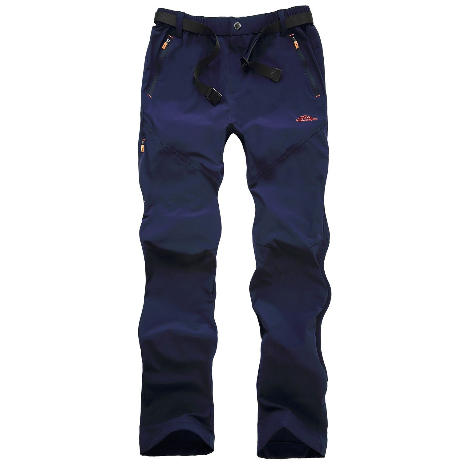 SUKUTU Men's Breathable Quick Dry Outdoor Cargo Hiking Pants Windproof Waterproof Softshell Trousers