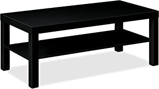 "product image for HON BL Series Coffee Table , Flat Edge Profile , 42""W x 20""D x 16""H , Black Finish"