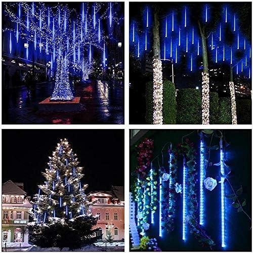 Meteorlichter, WASAGA LED-Regenlichter 20 960 LED-Röhren (2er-Pack) 50 cm Weihnachts-Eiszapfen-Rücklichter Schneelichter für die Weihnachtshochzeit Urban Decor