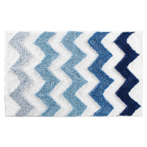 (InterDesign Chevron Microfiber Rug, 34