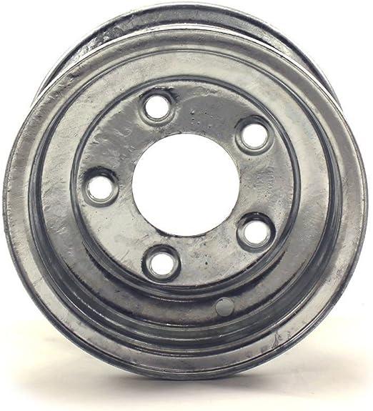 JG 8X7 5//4.5 White Bell Trailer Wheel