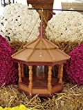 Hanging Spindle Poly Bird Feeder Amish Gazebo Handcrafted Homemade Cedar/ Red Md