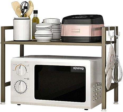 Standregal Küchenregal Mikrowellenhalter Gewürzregal Haushalts Ständer Regal 52