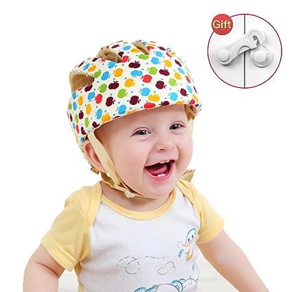 Casco De Seguridad Para Bebé, Niño Infantil Gorra Antigolpes Sombrero Ajustable Cabeza Protección Para Caminar