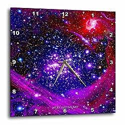 3dRose dpp_76827_1 Galaxy and Nebula-Milky Way Galaxy-Wall Clock, 10 by 10-Inch