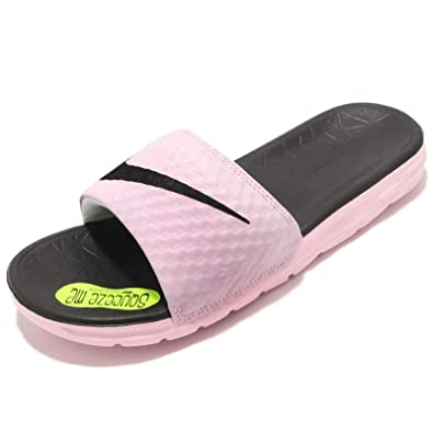 2bad843c3ead Nike Women s Benassi Solarsoft Slide Sandal Arctic Pink Black 5 ...