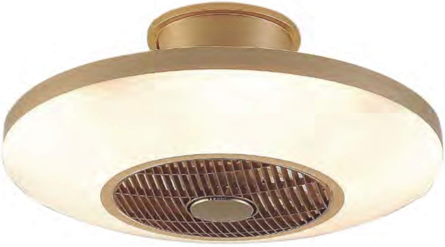 Ventilador de techo con LED VIENA color dorado con mando a distancia para regulacion