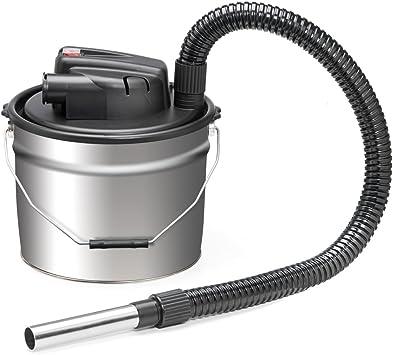 Aspirador de cenizas. Potencia: 1000 W. Capacidad del depósito recolector: 18 litros. Boquilla de acero. Producto perfecto para estufas de pellets y chimeneas de casa. TMX2005: Amazon.es: Bricolaje y herramientas